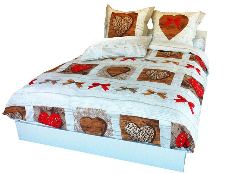 parure de lit en flanelle de coton